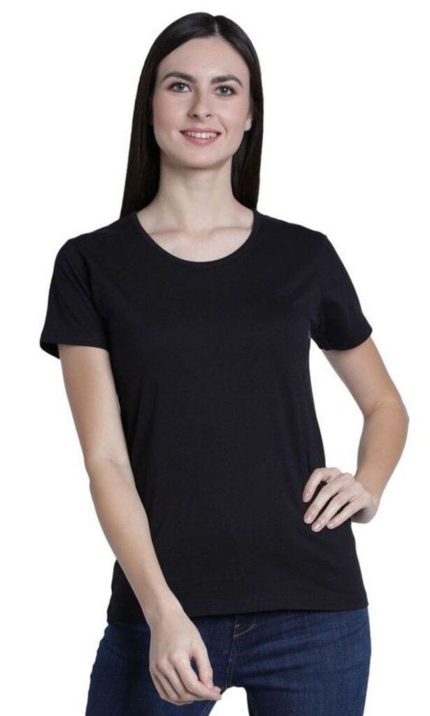 Women's T-Shirt Tees Jay Dee Exports Blue