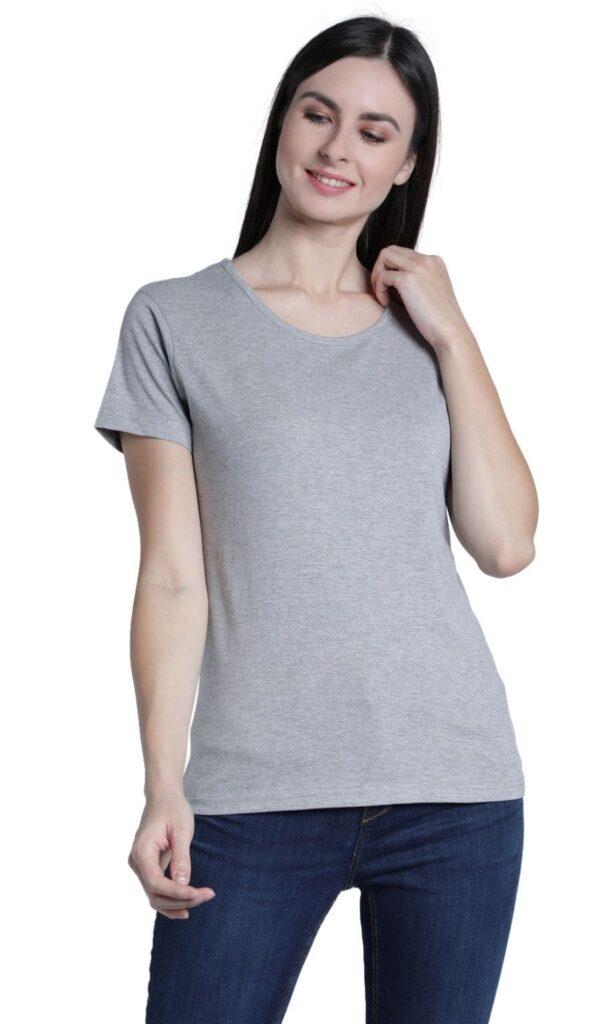 Women's T-Shirt Tees Jay Dee Exports Grey