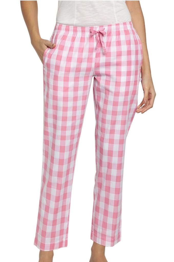 Womens lounge pants check Jay Dee Exports LP-1531