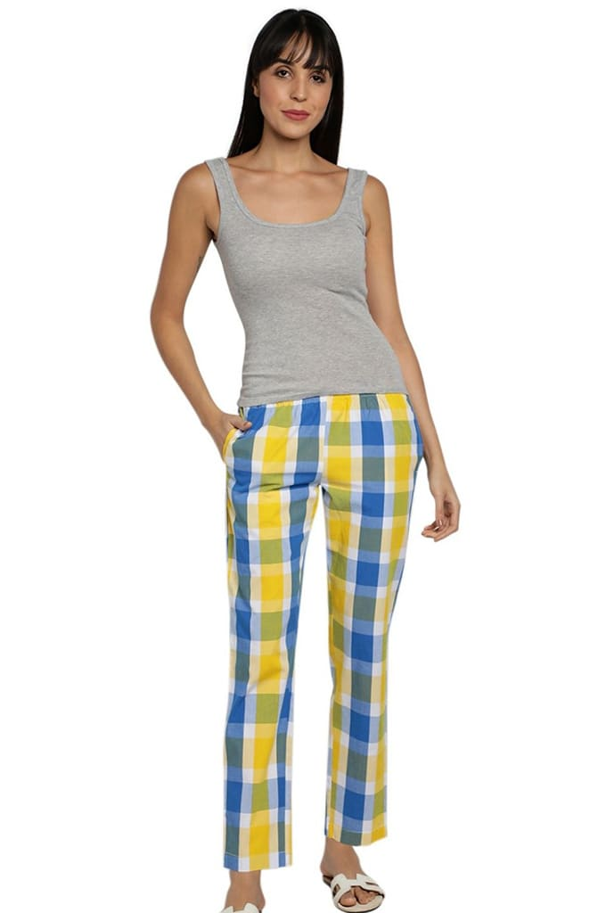 Womens Lounge Pants Check Jay Dee Exports LP 157