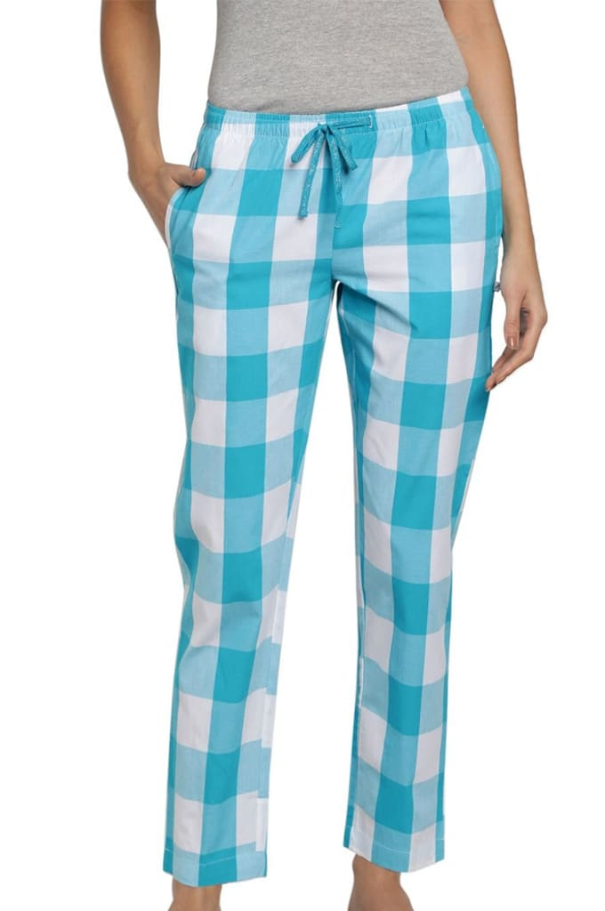 Womens Lounge Pants Check Jay Dee Exports LP 158